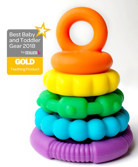 jChews Rainbow Stacker/Teether