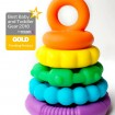 jChews Rainbow Stacker/Teether. Image 3561