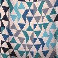 Geometric Teal Blue